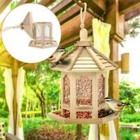 Outdoor Hanging Wooden-Squirrel Proof Seed Feeder For Wild Bird Seeds Feedings