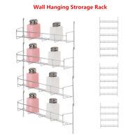 4/5/6Tiers Kitchen Spice Rack Organizer Storage Shelf Pantry Wall Hanging Holder