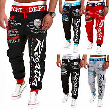 Mens Slim Fit Tracksuit Sport Gym Skinny Jogging Joggers Bottoms Pants Trousers