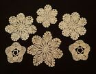 Lot of 6 small Crocheted Doilies