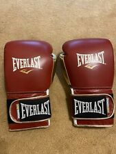 NEW Everlast Professional Powerlock Training Glove 16oz - Maroon/Gold
