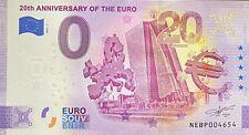 BILLET 0 EURO 20th ANNIVERSARY OF THE EURO AUTRICHE  2021 NUMERO  DIVERS