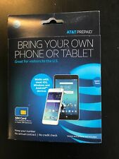 At&T Prepaid Sim Card 4G Lte Bring your Own Phone or Tablet - Sealed