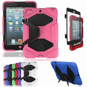 Apple iPad mini 1 2 3 4 Heavy Duty Shock Proof Case Cover & Screen Guard & Stand
