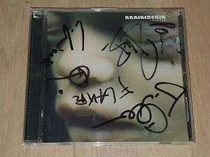 RAMMSTEIN Mutter 2001 cd SIGNED !!! GOJIRA METALLICA LAMB OF GOD MASTODON SALYER