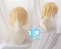 Japanese Anime Vocaloid Kagamine Rin/Len Yellow Short Cosplay Hair Wig +Wig Cap