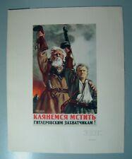Poster WWII WW2 Soviet USSR Russian Original Communism PROPAGANDA Stalin