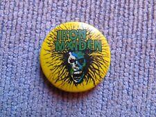 IRON MAIDEN: CHAPA ORIGINAL AÑOS 80 !!!!!!!!!