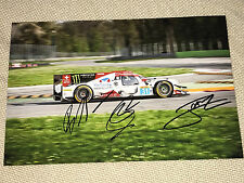 WEC Le Mans 2017 Rebellion Senna,Prost,Canal SIGNED Autograph,Signiert