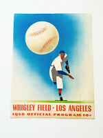 Rare 1950 Wrigley Field Hollywood VS LA Official Baseball Score Card Program