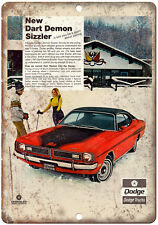 "1971 Dodge Dart Demon Sizzler 10"" x 7"" Reproduction Metal Sign"
