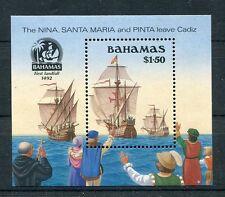 Bahamas 1990 bf 58 anniversario scoperta dell'america MHN