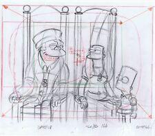 Simpsons Marge Bart Original Art Animation Production Pencils Dabf08 Scbg 166