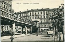 BERLIN SCHÖNEBERG Hochbahn Hausdurchbruck Bierhalle Spiegel Polsterwaren 1910