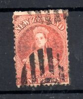 New Zealand 1864 1d orange Perf 12.5 WMK Star used SG111 WS20597