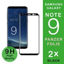 "2x Samsung Galaxy NOTE 9 Panzer Glasfolie ""BLACK""  Full Screen Curved 9H / 3D"