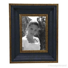 Jugendstil Bilderrahmen Fotorahmen Blau Gold Vintage Antik Deko Retro Stil 13x18