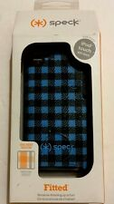 Speck Fitted Case -Blue/Black Checker for iPod Touch 4G #SPK-A0645