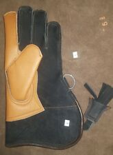 New Nubuck Leather Double Skinned Falconry Glove 12 Inches Long, Large Size