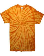 Colortone Tie-dye Women S Short Sleeve Casual Sprial T Shirt 2xl Spiral Black