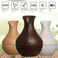Wood Grain Humidifier Essential Oil Aroma Diffuser Aromatherapy Air Purifier