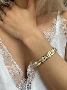 Bracelet for Fiance Engagement gift for women Diamond Bracelet 24k GOLD HANDMADE