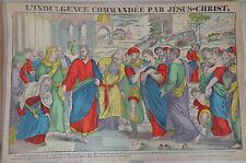 Rare Imagerie Pellerin print L'Indulgence Commandee par Jesus-Christ Inv2286