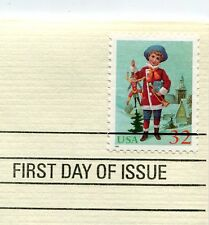 Christmas 1995-Child Holding Jumping Jack-1st day issue-Golden Replica