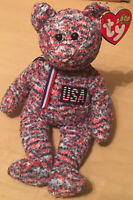 Ty Beanie Baby 2000 USA Bear With Tags