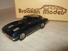 Rare Brooklin BRK 21 1963 Chevrolet Corvette Stingray Coupe in 1:43 Scale.