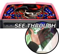 P171 American Skull Rear Window Tint Graphic Decal Wrap Back Pickup Graphics