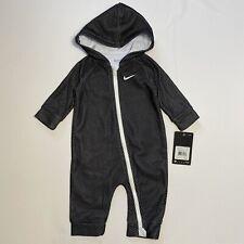 Nike Bebé Con Capucha Mono Mameluco de una pieza Traje Talla 6M Blanco/negro de malla de impresión