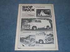 "1956 Ford F-100 Panel Vintage Article ""Shop Truck"""