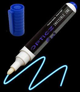 Opticz Blacklight Reactive Large Tip Invisible UV Blue Ink Marker