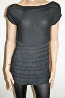NOW Brand Black Sleeveless Cable Knit Tunic Top Size 16 BNWT #TG69