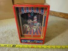 Vintage music, jewelry, trinket box. Clown on bucking horse, wind up toy.