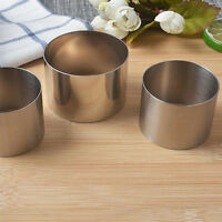 Home 2Inch Stainless Steel Mousse Cake Ring Mold Cookie Pastry Baking Mould