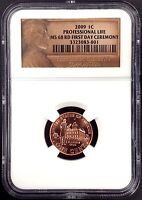 2009 Lincoln Cent, Professional Life, NGC graded MS 68 RD, First Day Ceremony!