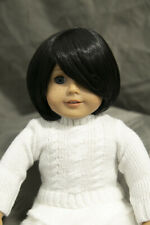 Doll Wig Short Style with Long Bangs Natural Black Size 10-13 in 26-30 cm NEW