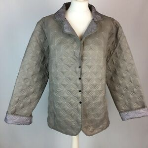 Gabriella Vicenza Collection Taupe Light Quilted Jacket UK 16 / 18 Autumn Travel