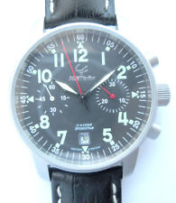 Russian Chronograph MAKTIME AVIATOR , HIRSCH leather strap