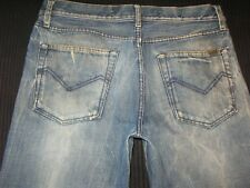 Energie Jeans Mens Straight Morris Low Waist Distressed  Sz 34 X 31