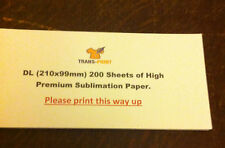 Sublimation paper DL 210mm x 99mm /transfer/t-shirt/heat press/mugs 200 SHEETS
