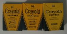 Vintage 1970's-80's #8, #16, #24 Crayola Crayons Binney & Smith Inc.