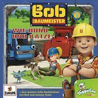 BOB DER BAUMEISTER - 002/WIE HUND UND KATZE  CD NEW