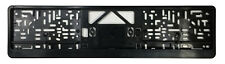 German License Plate Frame / Euro Evo1 Frame BMW VW Mercedes Mini Audi - Black