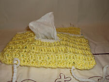 Handmade Crochet Diaper / Wipes Pouch Bag for baby infant Yellow Baby shower NEW