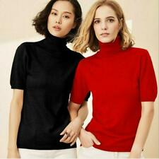 Cashmere Short Sleeve Turtleneck Sweaters for Women for sale