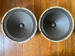 """Pair Vintage Magnavox 15"""" Woofers 581515 137 6807 Drivers Speakers Hi-Fi Stereo"""