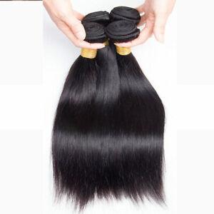 Straight Hair Peruvian Straight Human Hair Weave 4 Bundles Natural Black Weaving